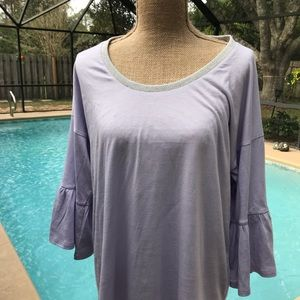 Michael Kors Light lilac top with bell sleeves